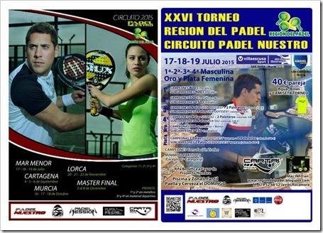 I Circuito Padel Nuestro 2015: el mejor pádel en la Región de Murcia. TORNEOS