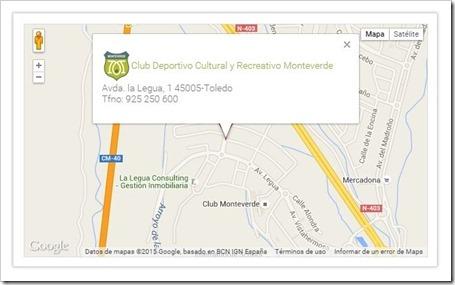 Localización CLUB MONTEVERDE TOLEDO