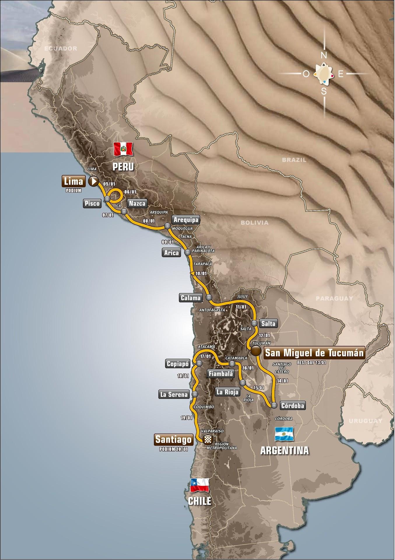 Ruta Rally Dakar 2013