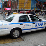 NYPD at times square in new york city in New York City, New York, United States