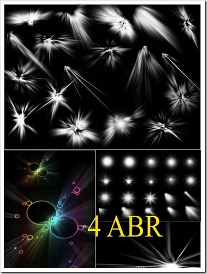 Light Beam Photoshop and Gimp Brushes Collection - Graphics Elements
