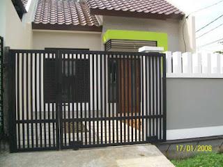 contoh gambar pagar minimalis galvanis