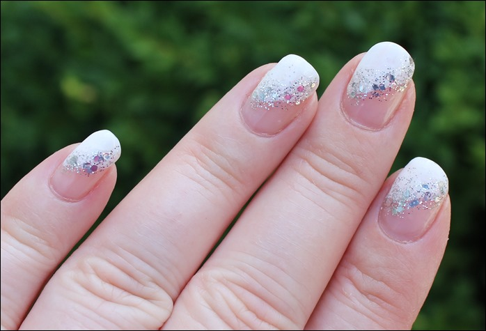 Nail Art Glitter French 05