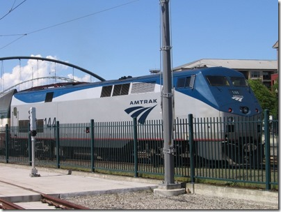 IMG_2836 Amtrak P42DC #144 at Union Station in Portland, Oregon on May 8, 2010