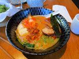 Kimchi and fried chicken ramen at Rocket Fish