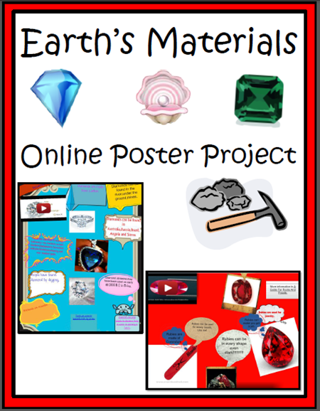 Throw out the poster boards! - Use online posters instead - great for research project, persuasive writing and almost any science or social studies topics - ideas and website suggestions from Raki's Rad Resources. earth material online project