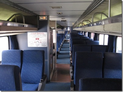 IMG_0677 Upper Level of Amtrak Superliner I Coach-Baggage #31015 at Union Station in Portland, Oregon on May 10, 2008