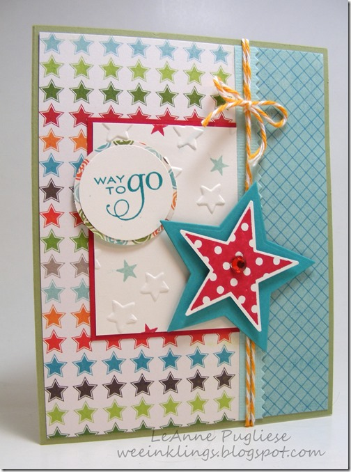 LeAnne Pugliese WeeInklings Papertrey Star Way to Go Graduation Card