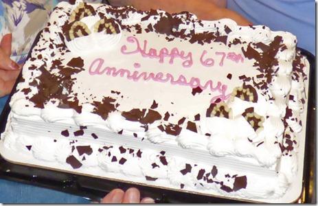 67th Anniversary Cake