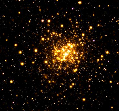aglomerado globular Liller 1 visto no infravermelho próximo