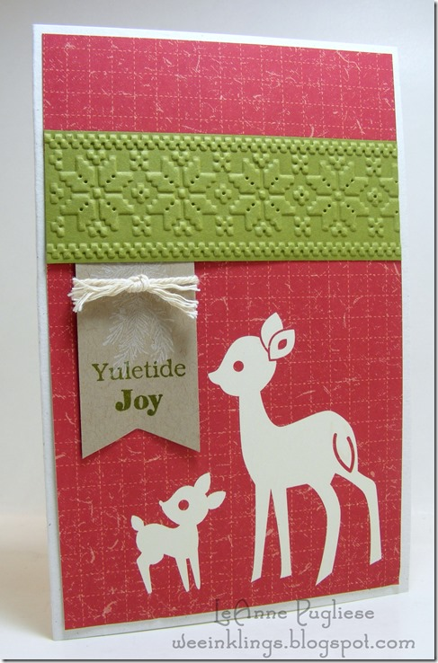 LeAnne Pugliese WeeInklings Simple Deer Christmas Sweet & Sassy