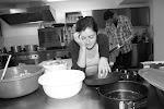 Gianna, unsere Chefin, die zwei ganze Tage in der Küche gekocht hat. (Foto von John Fisher)