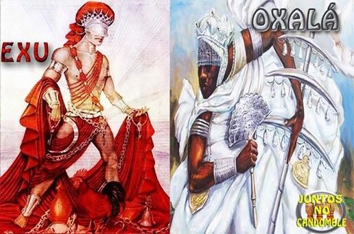 Orixá Bara Exú e a conversar com o Orixá Oxalá - Juntos no Candomblé - Umbanda e espiritualidade
