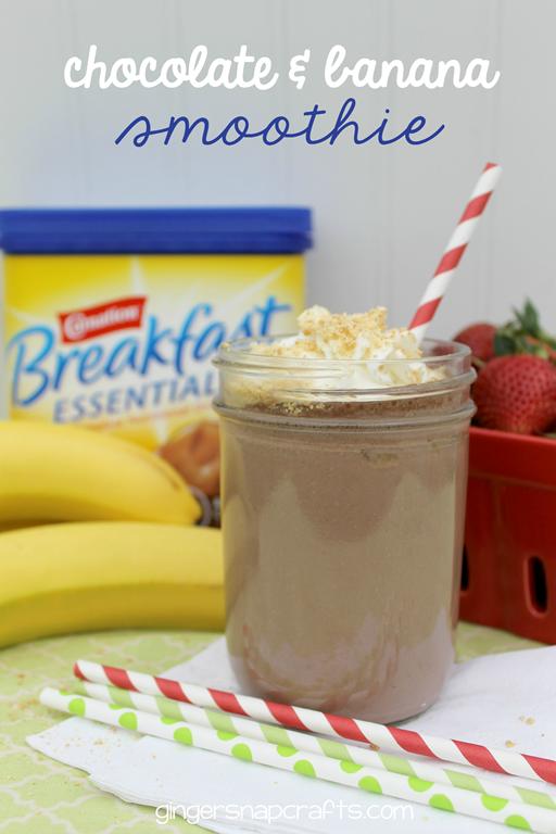 Chocolate & Banana Smoothie at GingerSnapCrafts.com #breakfastessentials #pmedia #ad_thumb[2]