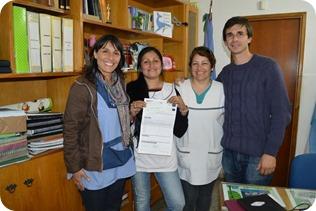 La Dirección de Instituciones Intermedias entregó aportes a una escuela de Mar del Tuyú