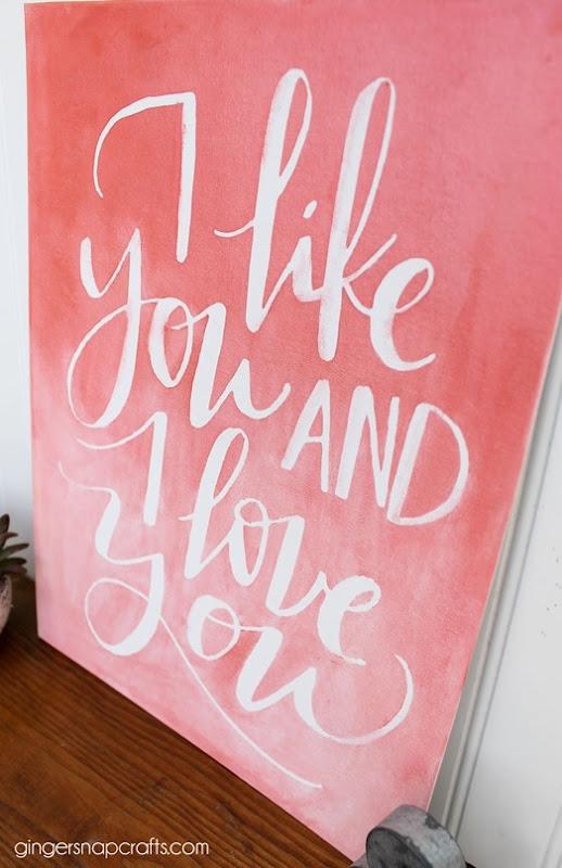 I like you and I love you