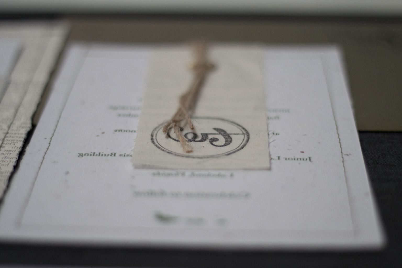 Plantable Letterpress Wedding