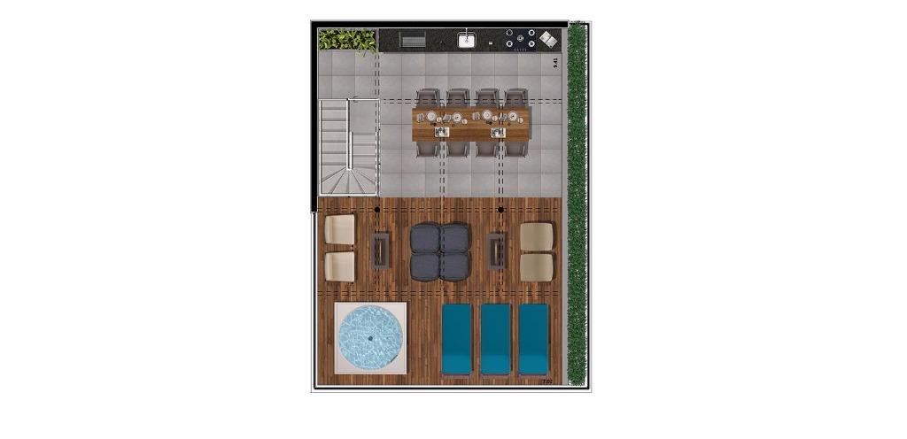 Planta Cobertura Superior 132 m²