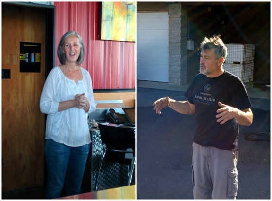 Julie Rennie & Paul Gardner of Pentage Winery