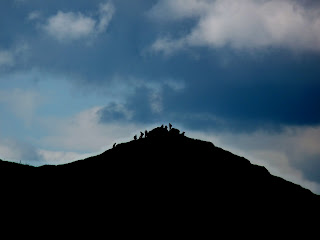 Crowds on Chrome Hill