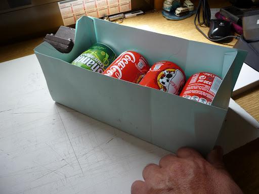Alcasa bricos caja en pvc para latas cerveza refresco en for Dispensador de latas para frigorifico