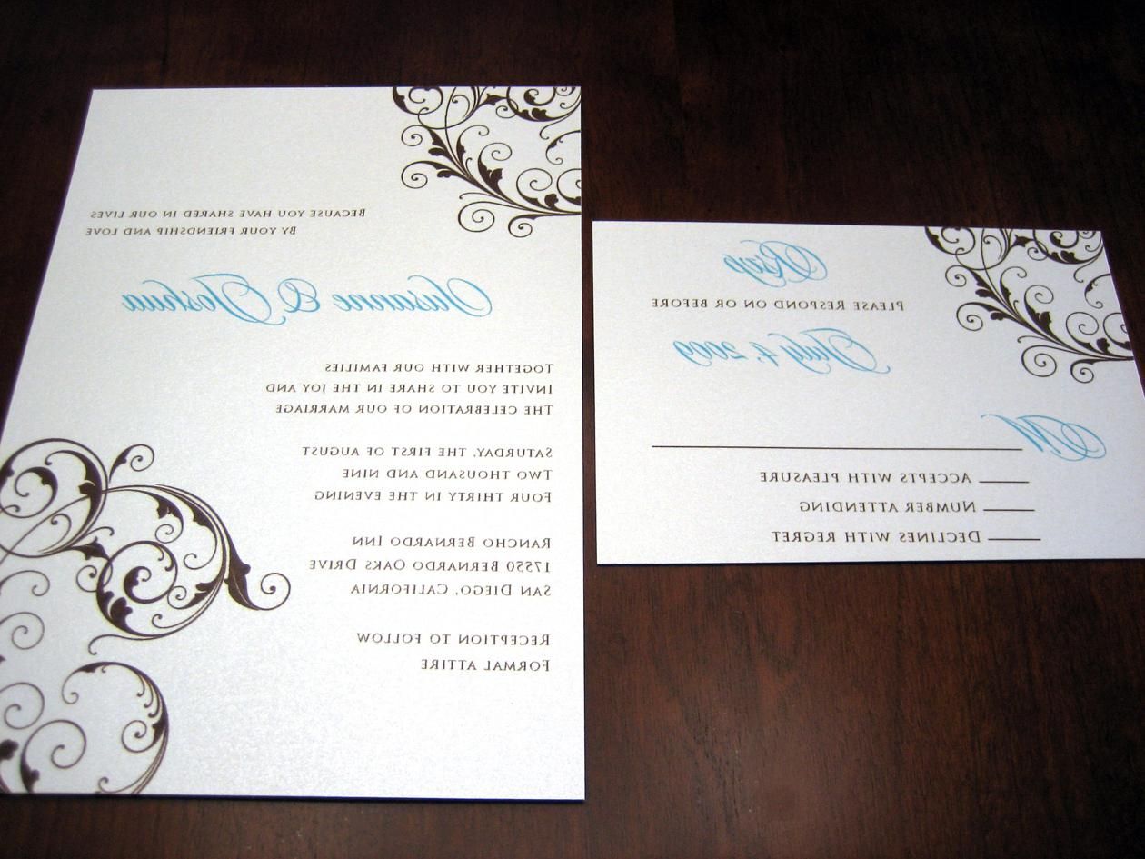 Blue & Brown Scroll Wedding