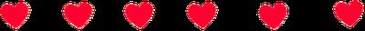 barra de corações