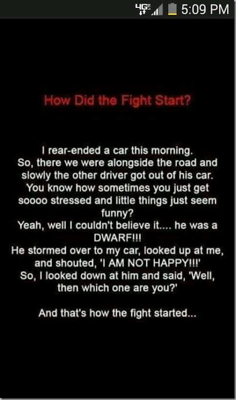 how did the fight start