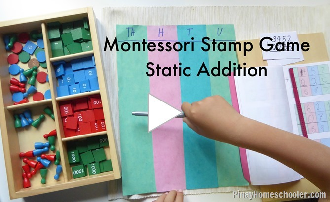 Static Addition With Montessori Stamp Game Friday August 21 2015