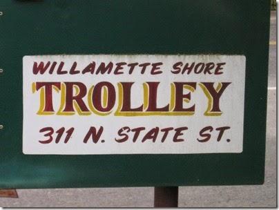 IMG_0571 Willamette Shore Trolley Sign in Lake Oswego, Oregon on April 26, 2008