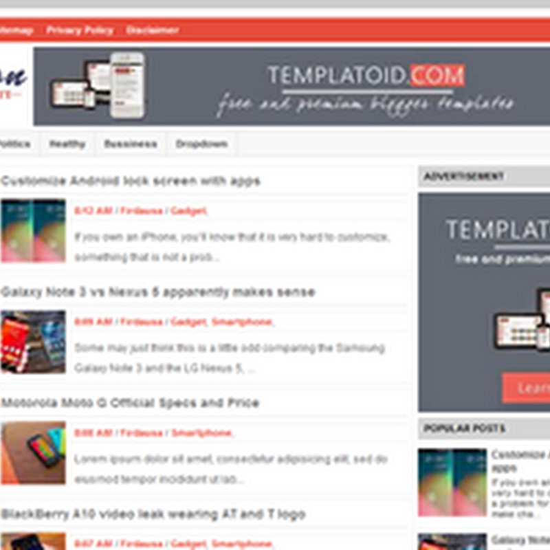 Trivusion Template blogger Best For Adsense