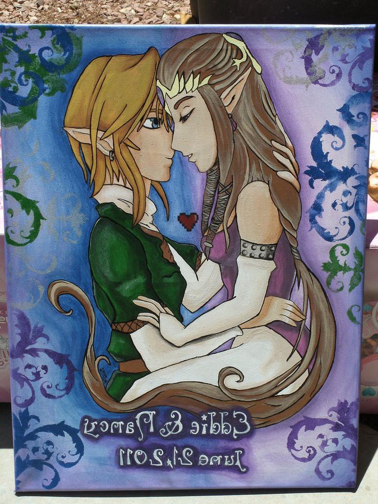 link and zelda-wedding present