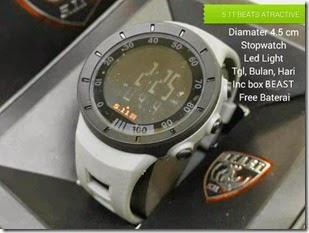 jam tangan kw keren terbaru Rubber Grey