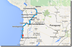 Cochabamba - Copiapo