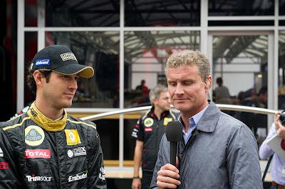 Бруно Сенна дает интервью Дэвиду Култхарду на Гран-при Бельгии 2011