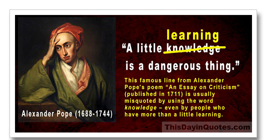 Essays On Criticism Alexander Pope