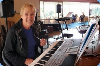 Yvonne Moller playing the Korg Pa1X. Photo courtesy of Dennis Lyons.