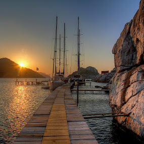 by Marc-Antoine Kikano - Landscapes Waterscapes ( water, sailboats, hdr, nature, sailing, sunset, sea, sunrise )