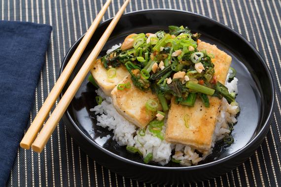 Crispy Tofu & Bok Choy Red Curry with Jasmine Rice, Thai Basil ...