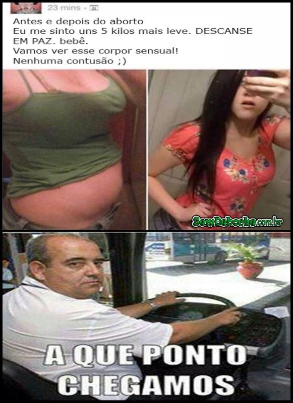 ANTES E DEPOIS DO ABORTO