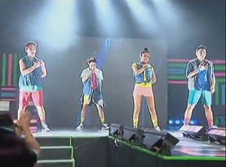 PBB 737 Teen Big 4 at the dance concert