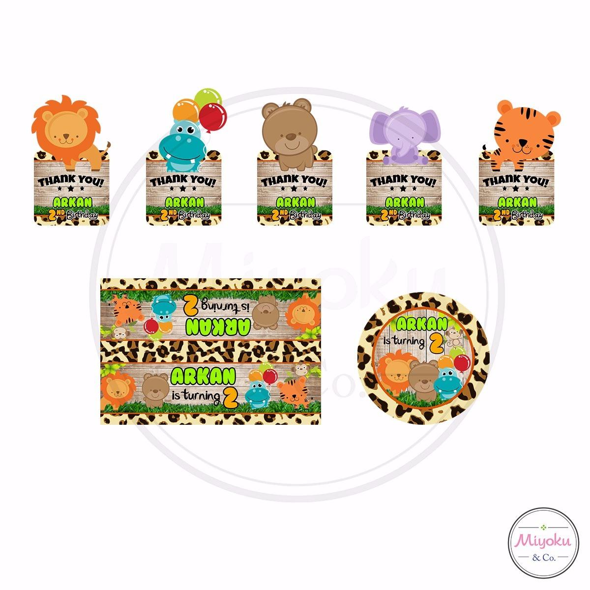 Comment on this picture ulang tahun anak contoh undangan kartu apps - Design Kartu Dan Stiker Ulang Tahun Animals Jungle