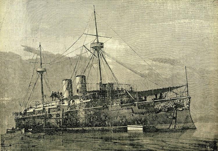 8-Crucero INFANTA MARIA TERESA. Revista LA NARURALEZA. AÑO 1894..jpg