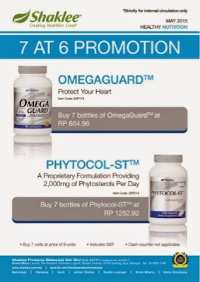 promosi, Omega Guard, Phytocol-ST, Pengedar Shaklee Kuantan, Independent SHAKLEE Distributor, Info, Kongsi, Produk SHAKLEE,