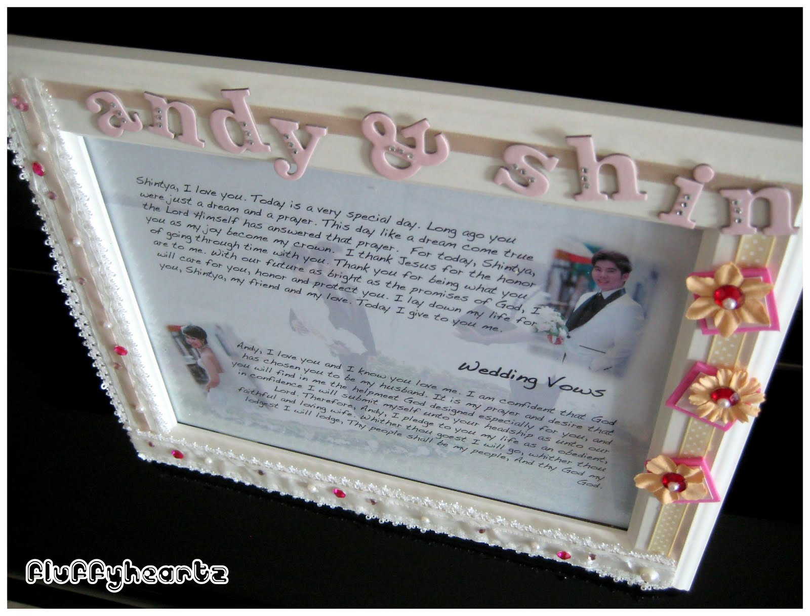 Photo frames - Wedding Vows