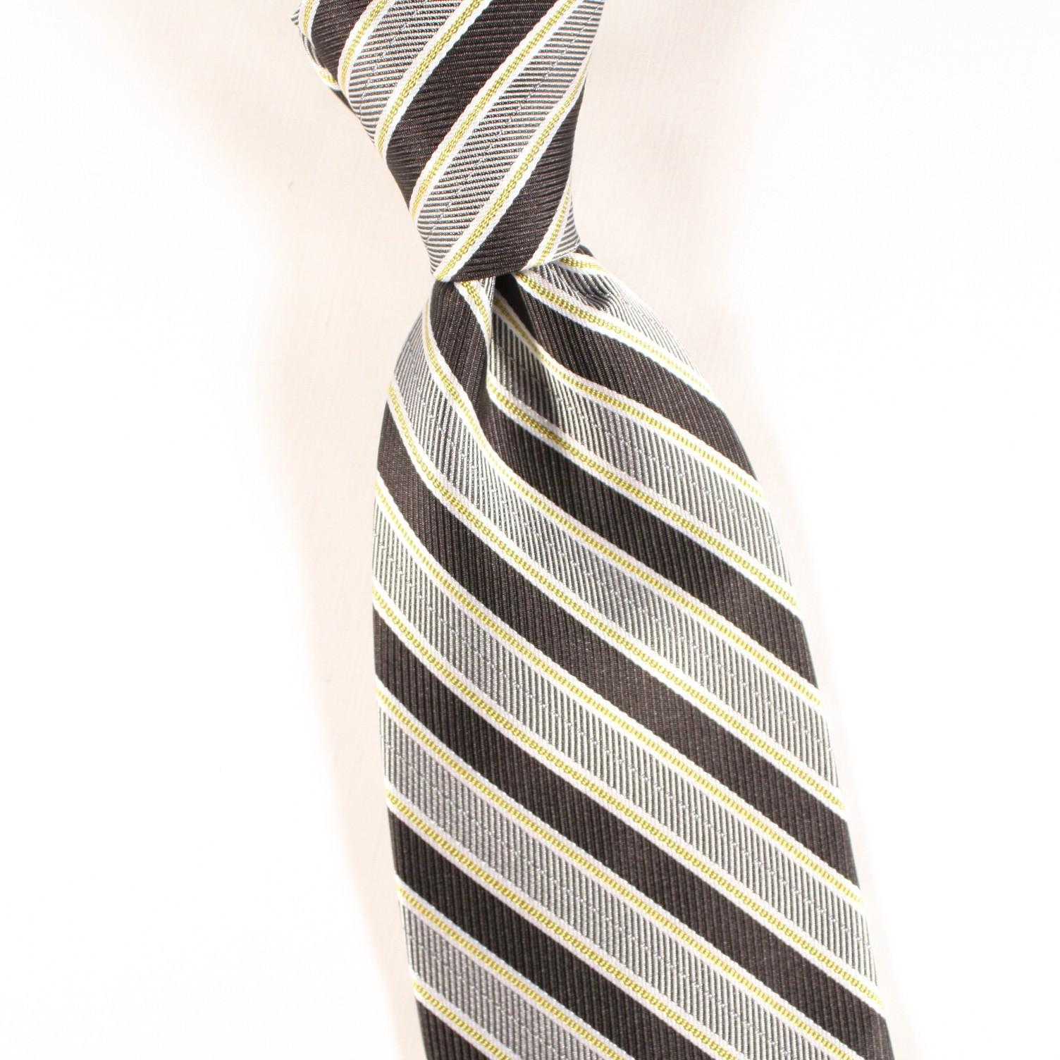 Black and grey gray power tie