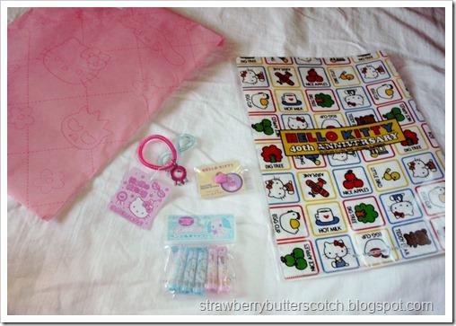 Cute Contents of Sanrio Grab Bag
