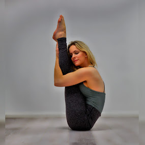 Serene Yoga by Ben Rohleder - Sports & Fitness Fitness ( balance, blonde, girl, relax, fitness, mindful, healthy, wellbeing, relaxation, relaxing, stretching, yoga )
