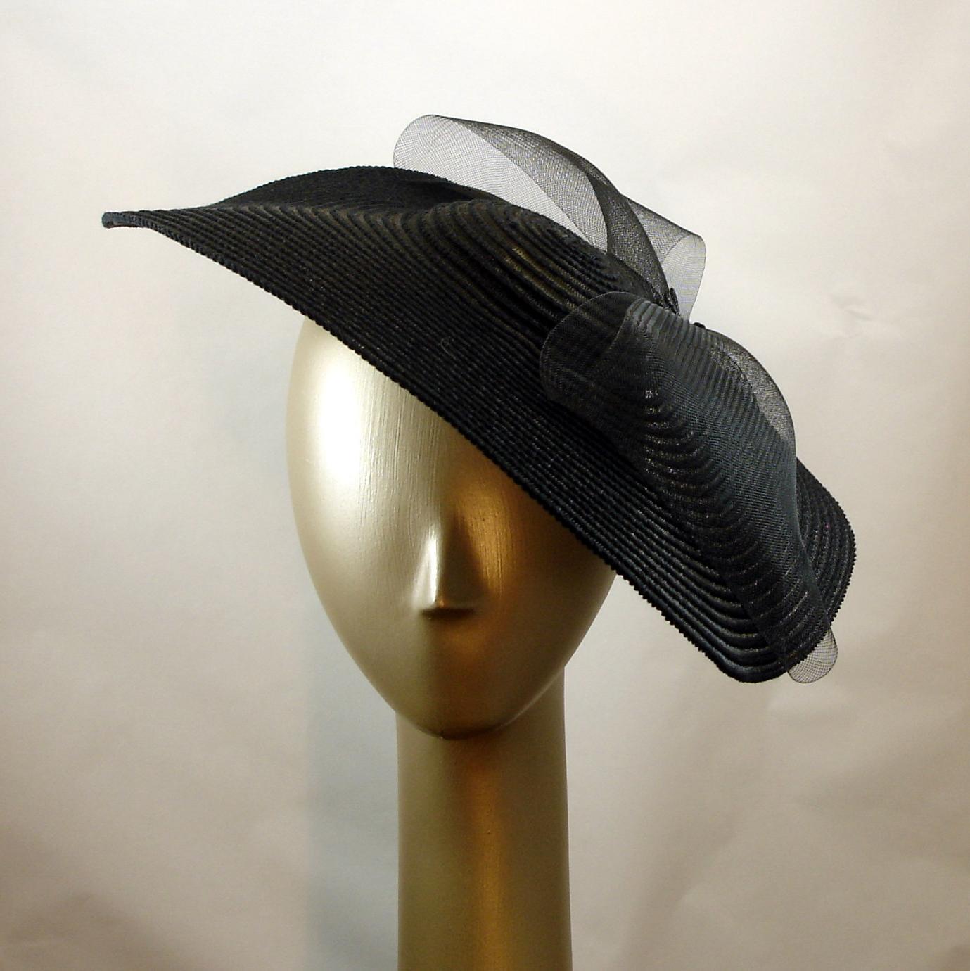 Black Dress Hat Dinner Plate