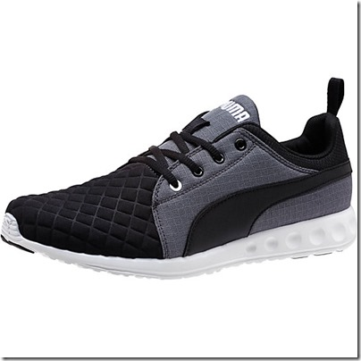 Puma Carson Runner Quilt Men Running Shoes - black-periscope-white USD 65.00